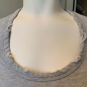 James Perse Tops - JAMES PERSE Frayed Gray Sweatshirt Size 1